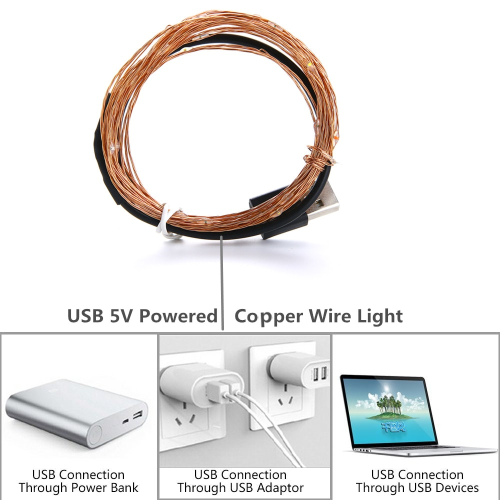 cooper wire led string lights lighting holiday christmas for party wedding (16)_